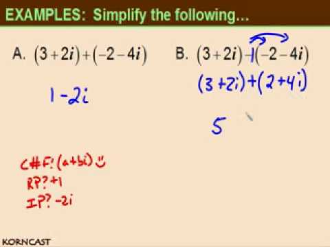 Complex Numbers Part I KORNCAST
