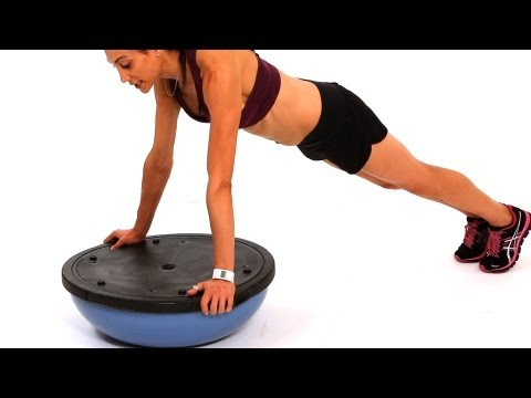 How to Do a Platform Push Up with a Bosu Ball | Exercise Ball Workout