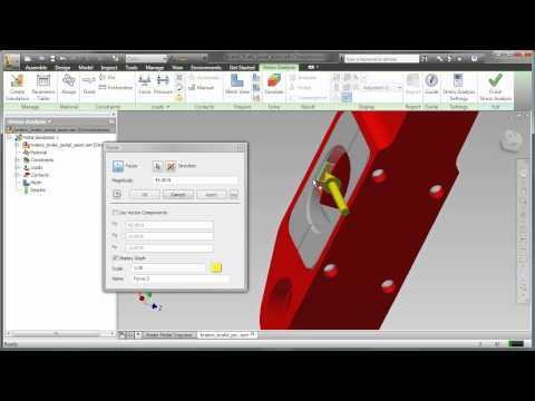 Brake Pedal FEA 2: Setting up the Simulation