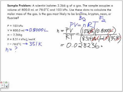 Application of the Ideal Gas Law Sample Problem 2