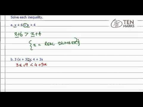 All Real Numbers or No Solution - Inequalities