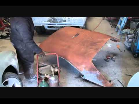Rust Repair Made Easy-Car Roof Replacement-Part 7-Using A Cutting Torch