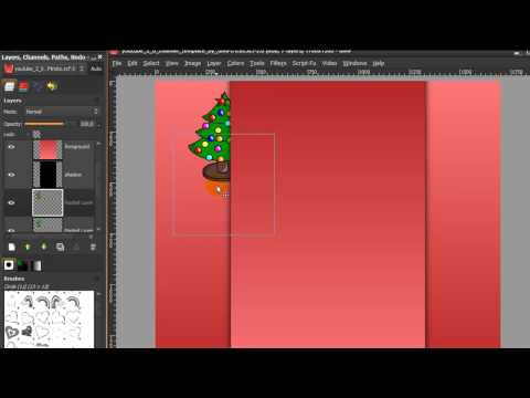 Make a youtube channel background with GIMP - New design