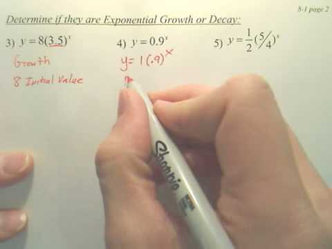 8.1b Exponential Functions - Algebra 2