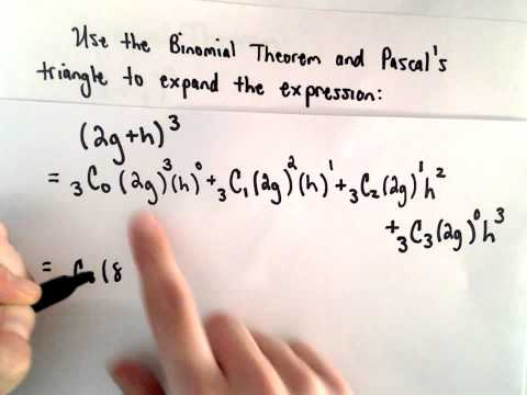 The Binomial Theorem and Pascal's Triangle