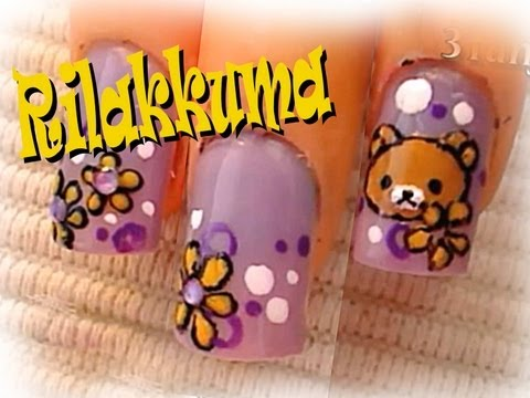 *Rilakkuma* Nail Art Design Tutorial