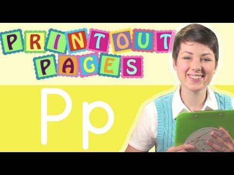 Learn to write letter P with Ms. Victoria, Learn the alphabet with Printout Pages on TinyGrads