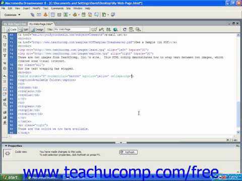HTML Tutorial Cell Spacing & Padding Training Lesson 9.8