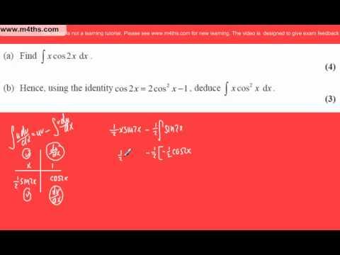 (q3) Core 4 June 2007 Edexcel Past Paper Integration by parts