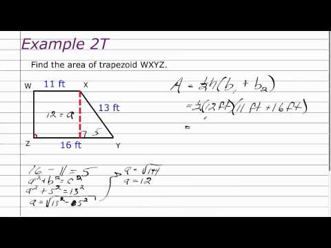 10-2 Geometry Areas of Trapezpoids, Rhombuses and Kites.mov