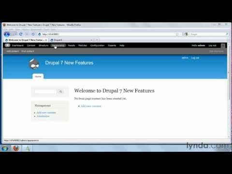 Drupal 7: How to install themes and modules | lynda.com tutorial