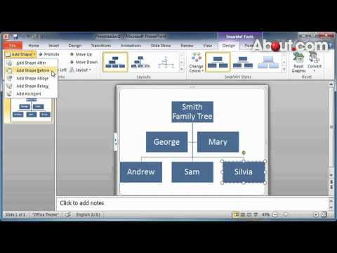 How to Create a PowerPoint 2010 Family Tree Chart