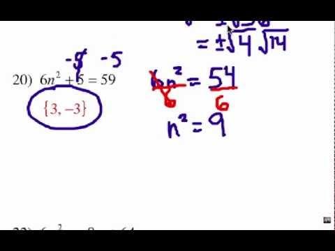 How to Solve Quadratic Equations: Problem Set #2