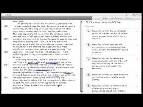 Grockit SAT Reading - Passage Based Reading: Question 2669