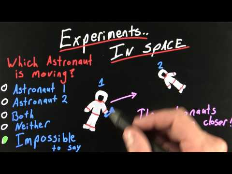Experiments in Space Solution  - Intro to Physics - What causes motion - Udacity