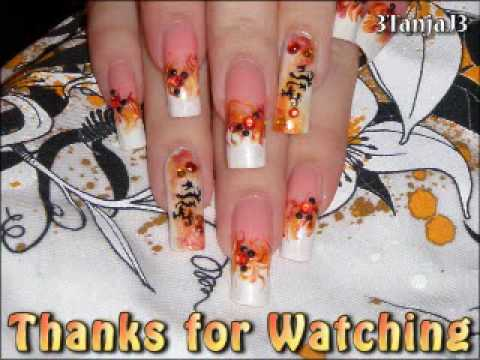 Asian Themed: *Dragon's Flame Nail Art Design* - Using smARTnails