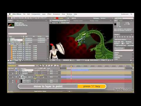After Effects: Making the work area match layer duration   lynda.com