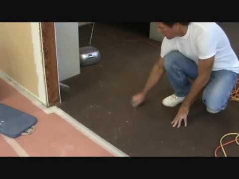uh....oh....sheetrock mud on carpet
