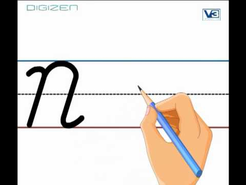 KidRhymes - Learn english Cursive Letter N