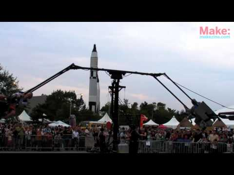 Tim O'Reilly rides the Jet Ponies at World Maker Faire NY