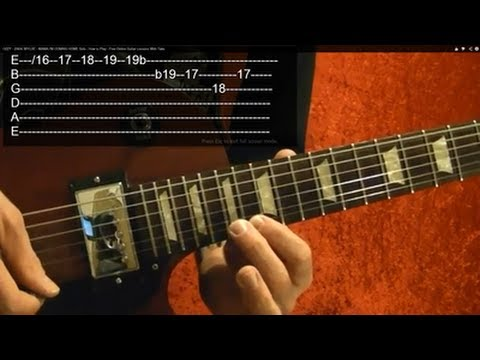 NOVEMBER RAIN Guitar Lesson by GUNS N ROSES Solo #2, and Ending Riff WITH TABS
