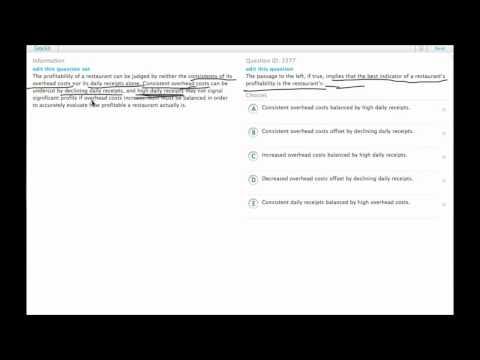 Grockit GMAT Verbal - Critical Reasoning: Question 3377