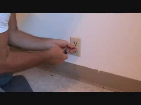 "Inspecting a ""loose"" electrical duplex outlet"