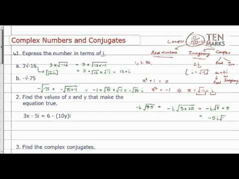 Complex Numbers and Conjugates