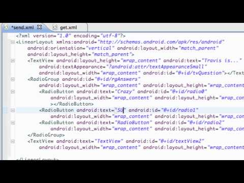 Android Application Development Tutorial - 45 - RadioButtons in a RadioGroup