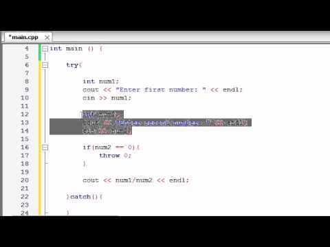 Buckys C++ Programming Tutorials - 63 - More Exceptions Examples