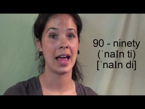 How to Pronounce Numbers 20 - 1 Billion:  American English
