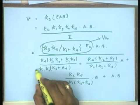 Lecture - 13 Kinetics of Bi substrate Enzyme