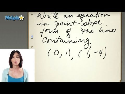 Writing the Equation of a Line in Slope-Intercept Form Quiz (ex.2)