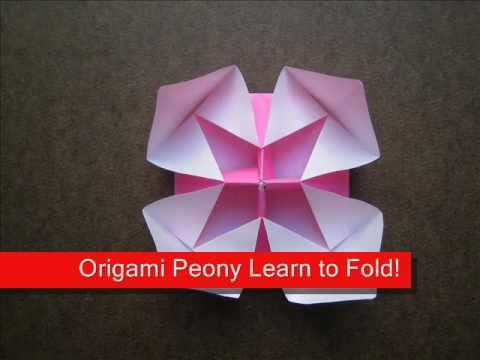 How to Fold Origami Peony Flower - OrigamiInstruction.com