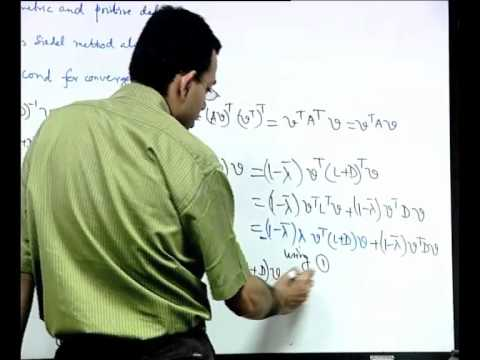Mod-01 Lec-27 Iterative Methods: Further Examples