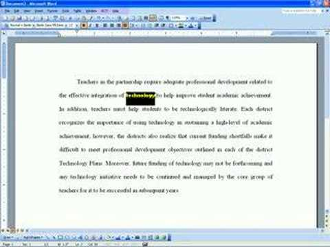 Microsoft Word Training Video: Quick Format Tip