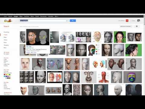 3D Studio MAX - Character Modeling - Part 07 (head model)