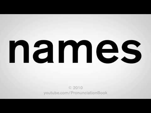 How To Pronounce Names