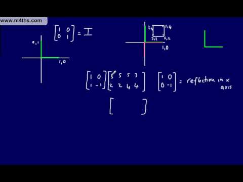 (11) FP1 Matrices (Edexcel Further Pure Mathematics) Matrix- finding linear transformations part 1