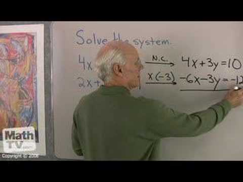 Algebra: Solving a System of Equations
