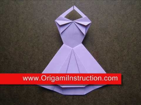 How to Fold Origami Trapeze Dress - OrigamiInstruction.com