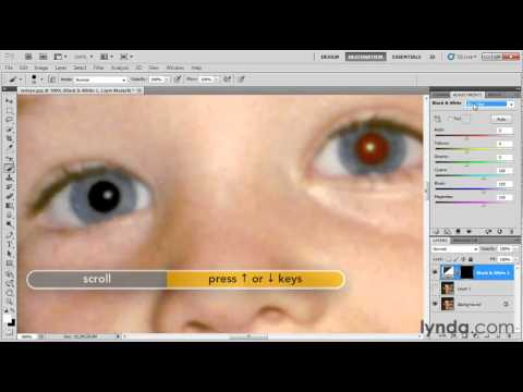How to remove red-eye from a photograph | lynda.com tutorial