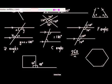 (3) GCSE Foundation Revision Short Videos (Angles)