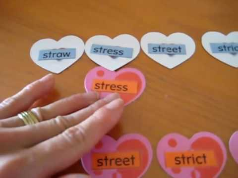 Preschool - Reading. Matching hearts