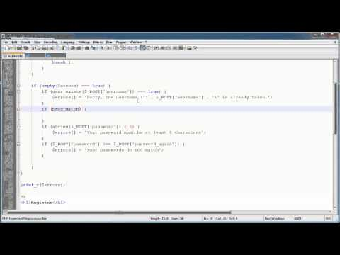 PHP Tutorials: Register & Login (Part 10): Registration Form and Validation (Part 3)