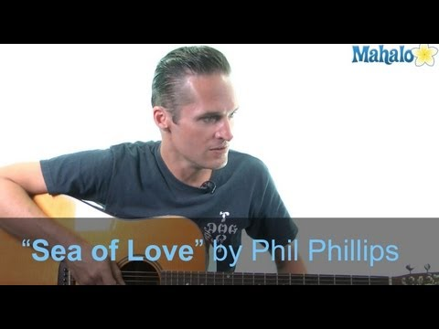 "How to Play ""Sea of Love"" by Phil Phillips on Guitar (Practice Cover)"