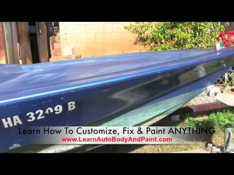 LearnAutoBodyAndPaint.com Speed Boat Auto Body Painting Project!