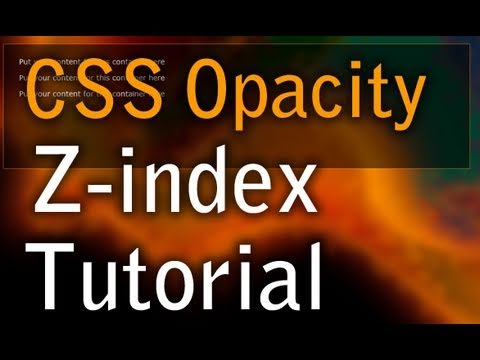 CSS Tutorial z-index Layering with Opacity For Text That Will Not Fade