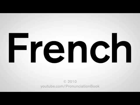 How to Say French