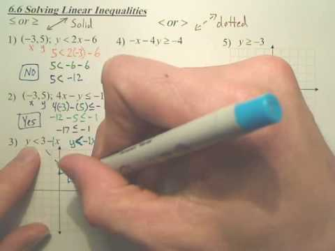 Algebra 1 - 6.6 Solving Linear Inequalities
